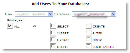 Assign user to the specified database
