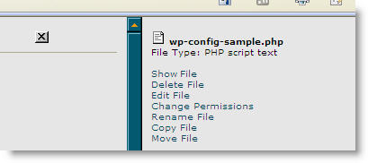 Edit your wp-config-sample.php file for database setttings