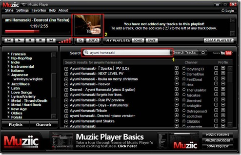 muziic mp3 youtube player